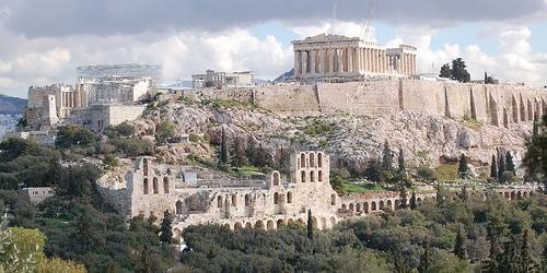 Atenas antigua grecia la belleza de una ciudad antigua Casas griegas antiguas