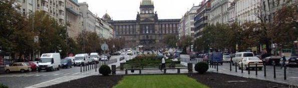 La plaza de Wenceslao Praga