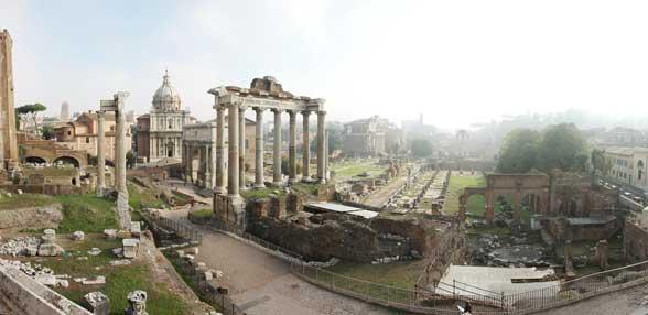 foro romano grecia antigua