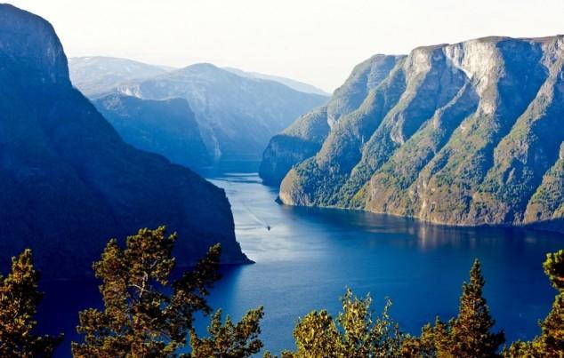 Sognefjord el fiordo más grande de Noruega