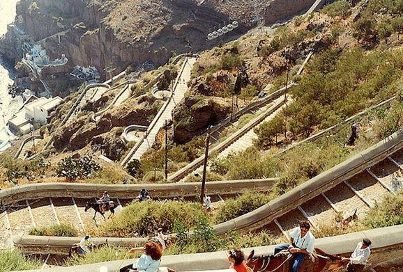 Escalera Santorini grecia