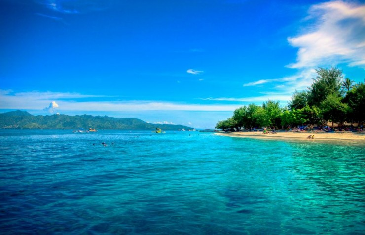 playas islas gili indonesia