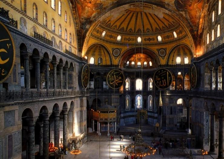 interior iglesia santa sofia estambul