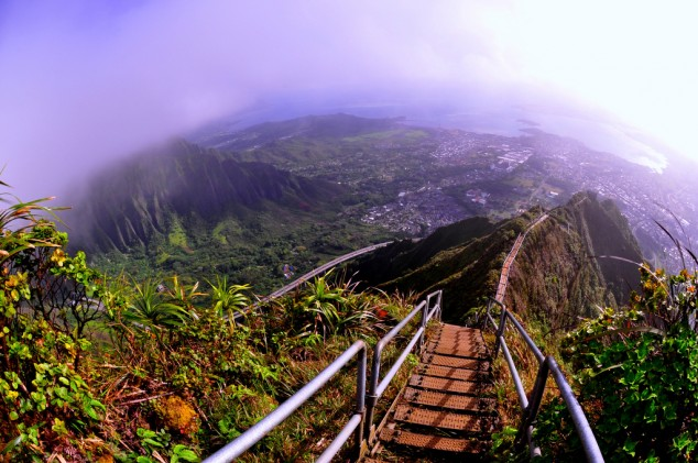 La Escalera al Cielo en Hawaii