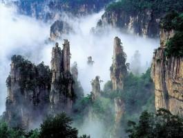 Montañas Tianzi China impresionante maravilla de la naturaleza