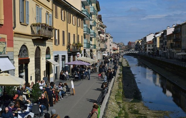 Canales Lombardi en Milan Italia