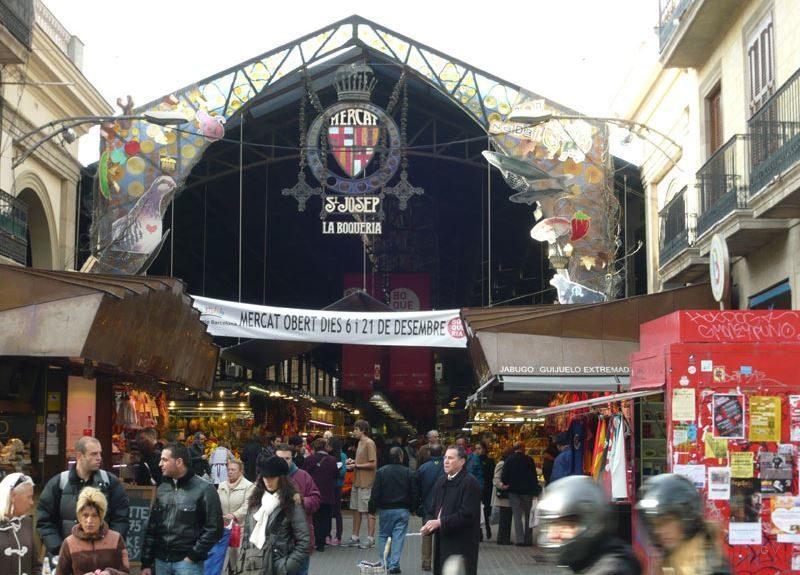 El Mercado de La Boqueria en Barcelona