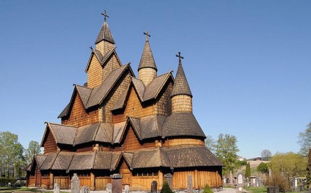 Iglesia de madera de Heddal Noruega