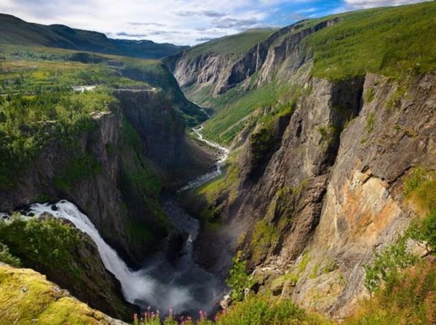 La cascada más famosa de Noruega Voringfossen