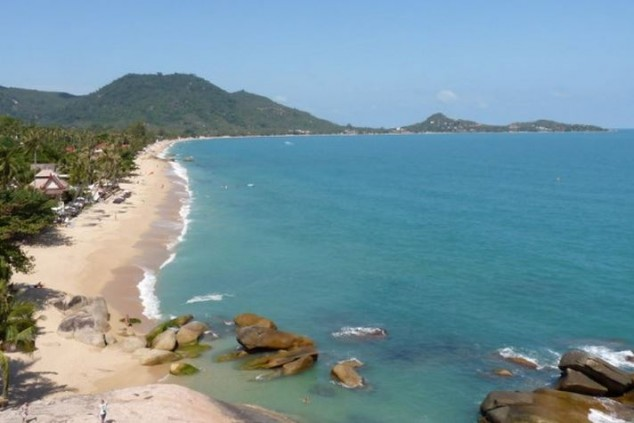 Lamai Beach en Samui, la segunda isla más grande de Tailandia