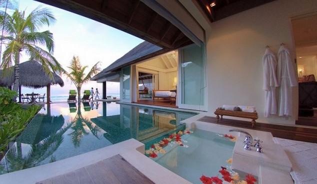 Naladhu es una pequeña Resort en Maldivas