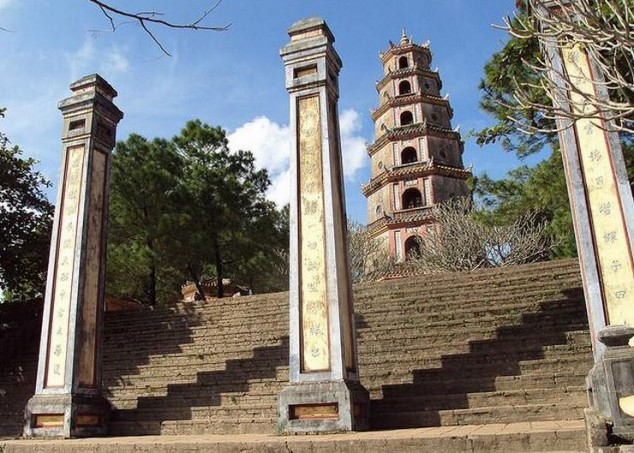 Pagoda Thien Mu en Hue la pagoda más alta de Vietnam