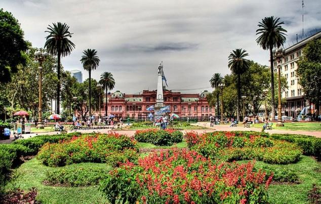 Plaza de Mayo en Buenos Aires la capital de Argentina