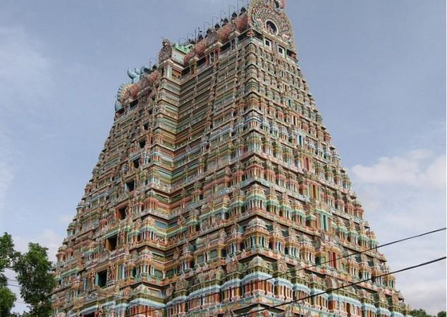 Templo Sri Ranganathaswamy en Srirangam, India