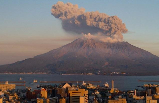 Volcan Sakurajima en Japon