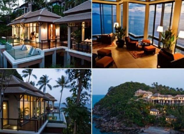 complejo de lujo de Koh Samui está diseñado con elementos tailandeses