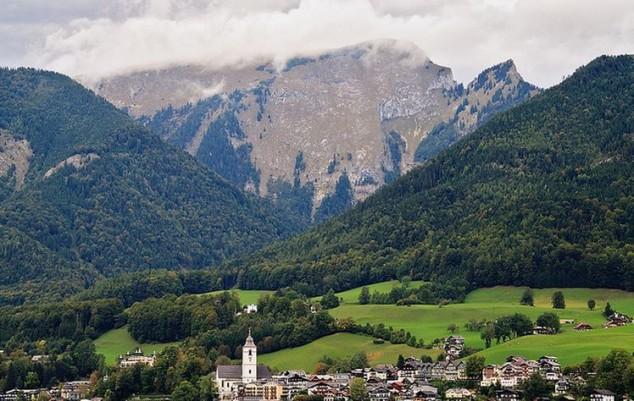 hermosa zona del complejo que se inicia con Salzburgo austria