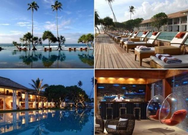 hotel está situado justo al lado de la playa de Koggala