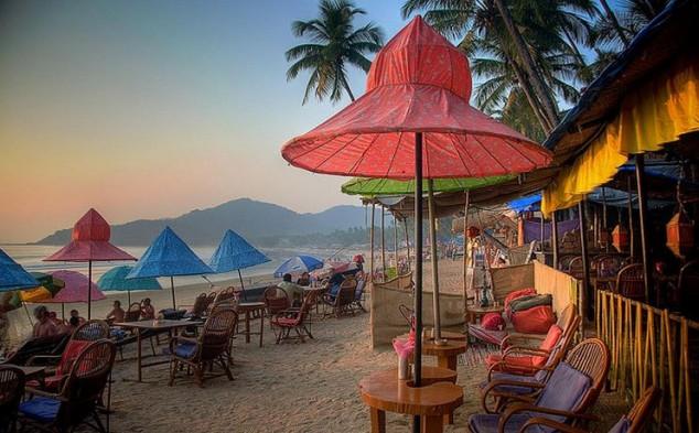 meridional de las playas de Goa