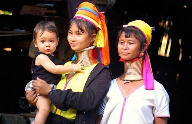 tribus de las colinas del norte de Tailandia