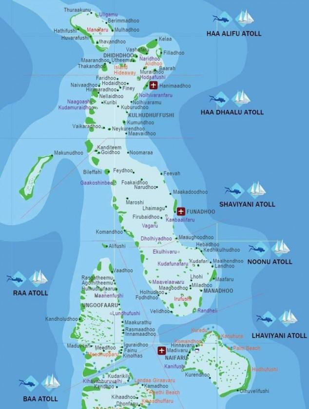 islas maldivas mapa