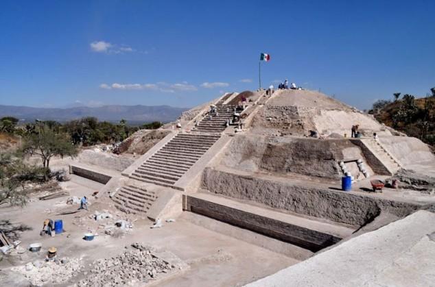 Pirámides en Puebla, México