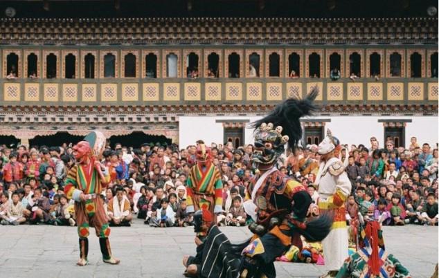 Thimphu Tsechu las fiestas religiosas anuales de Bután