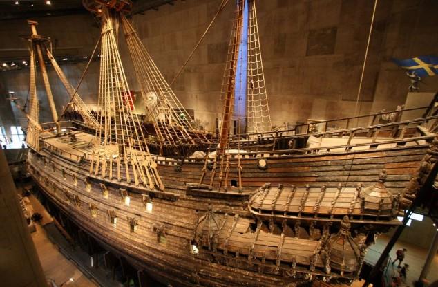 museo Vasa en Estocolmo barco