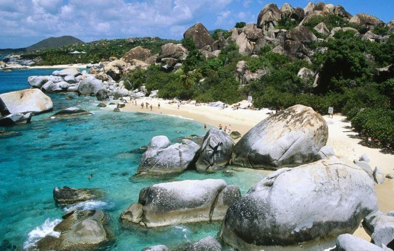 playa los baths en isla virgin gorda