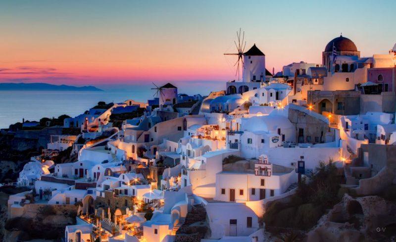 pueblos isla de santorini grecia