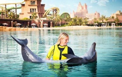 Dolphinarium Fun nadar con delfines dubai