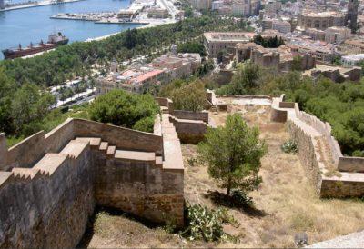 castillo gibralfaro en malaga