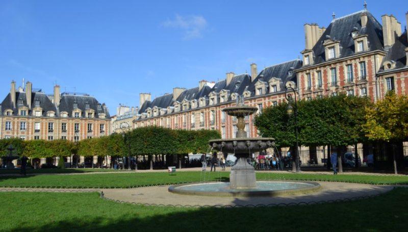 visitar plaza de los vosgos paris