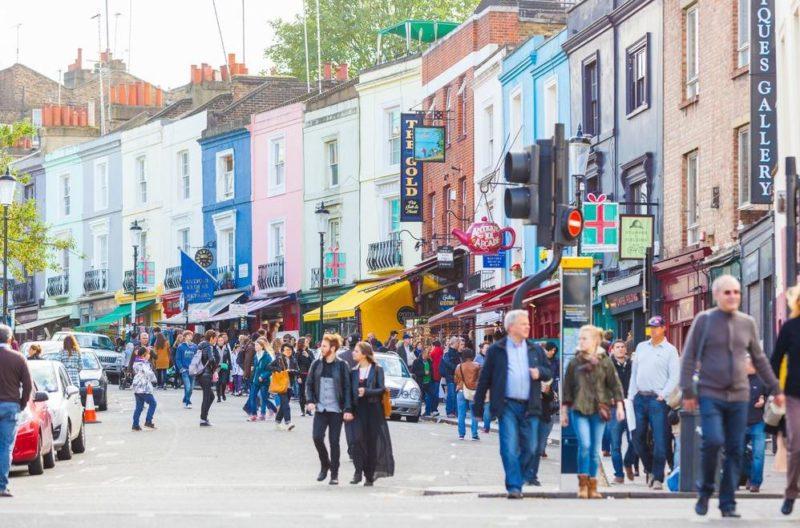 Notting Hill un famoso barrio en el centro de Londres