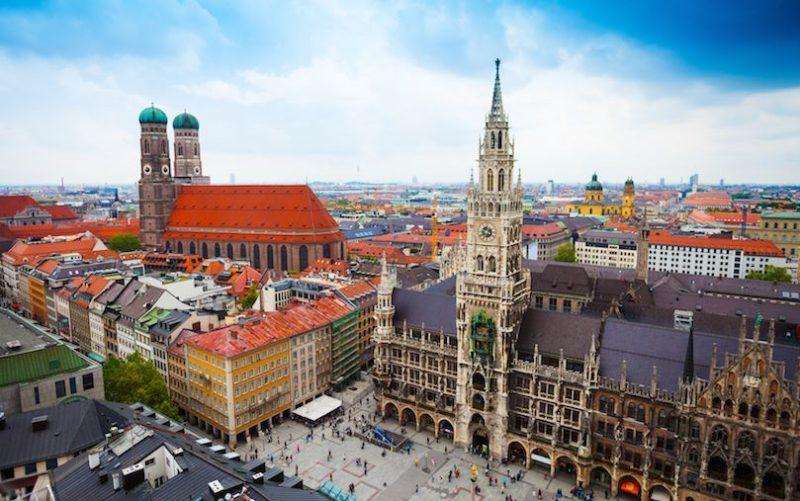 La espectacular ciudad de Munich, Alemania