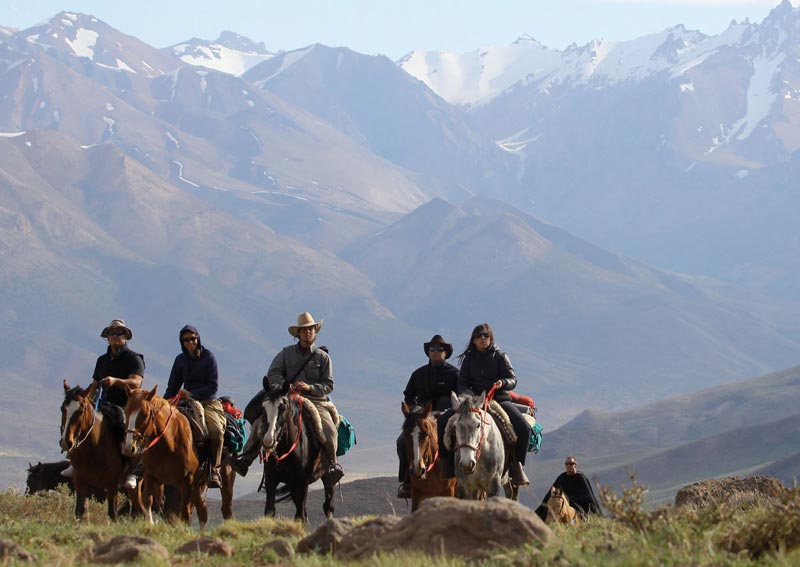 cabalgada andes chilenos