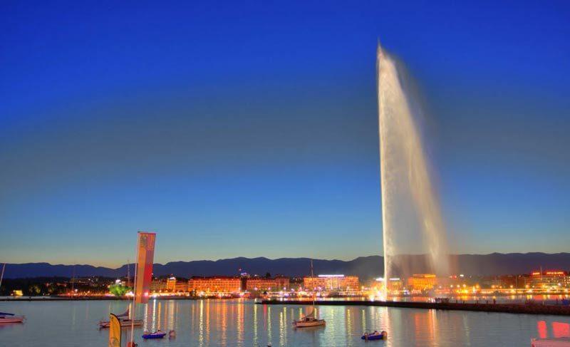 La fuente de Agua o Jet d'Eau