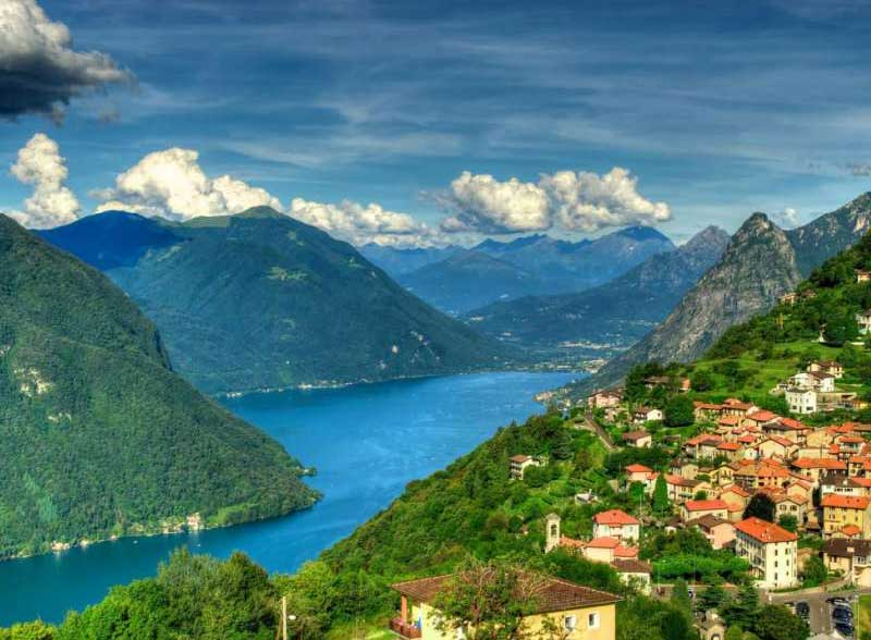 Lugano Ciudad en Suiza