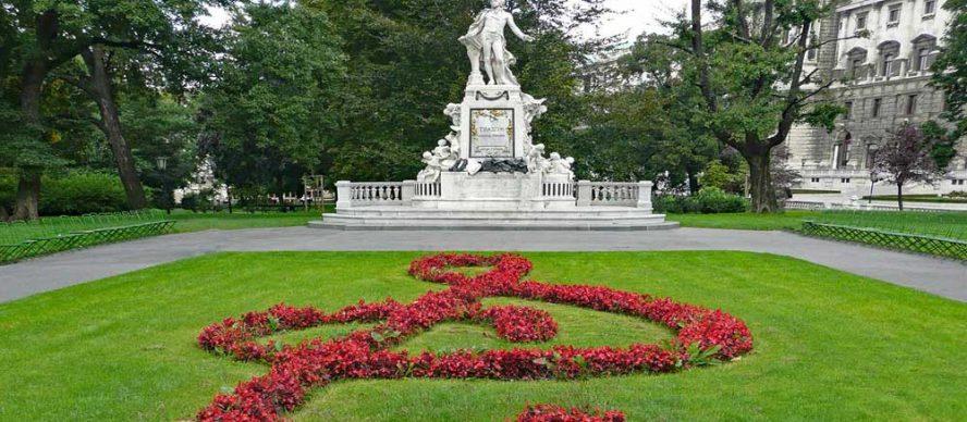 Burggarten un bello jardín en Viena